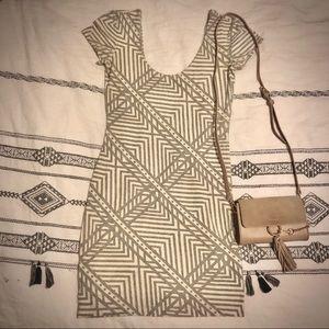 Sparkle + Fade geo patterned dress M
